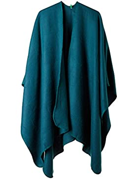 United Colors of Benetton Shawl, Poncho para Mujer