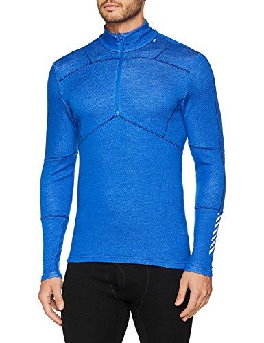 Merino-polo-pullover (Helly Hansen Herren-Sweatshirt, unterste Schicht, Hh Lifa Merino, langärmelig, mit halbem Reißverschluss XL Olympian Blue)