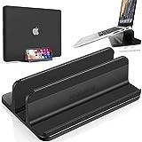 snaideal 3-in-1 Vertikaler Laptop-Ständer mit Einstellbarer Speicherfunktion, einschließlich Handy-Standfunktion, kompatibel mit Allen Apple und Anderen Marken Laptop & Handys
