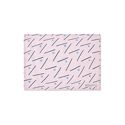 YS-FeiTeng Kitchen Western Mats - Canvas Tischsets Stoffservietten Stoffbezüge Western Pads Tischsets Polka Dot und Line Tischsets (Color : A, Size : 48 * 35CM) -