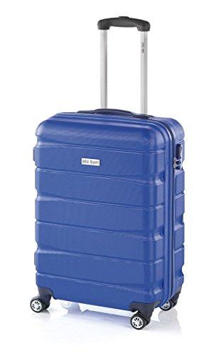 Maleta Double2 de JohnTravel, cuatro ruedas, material ABS - Azul