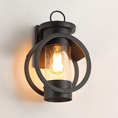 Chitty Leichte amerikanische geführte Wandlampe aus Schmiedeeisen for den Außenbereich/Korridor/Gang/Treppe/Balkonwandlampe/wasserdichte Gartenlampe for den Außenbereich / 230 * 170 * 350mm