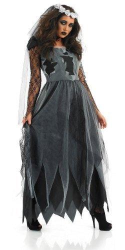 Corpse Bride-Halloween-Kostüm, Schwarz, XL (UK 20-22)