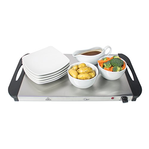 Quest 16510 Large Buffet Server and Warming Tray / 3 x 2.4L Trays / 300W / Rapid Heating / Adjustable Thermostat / Lids…