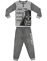 Pijama niño Star Wars gris dos piezas