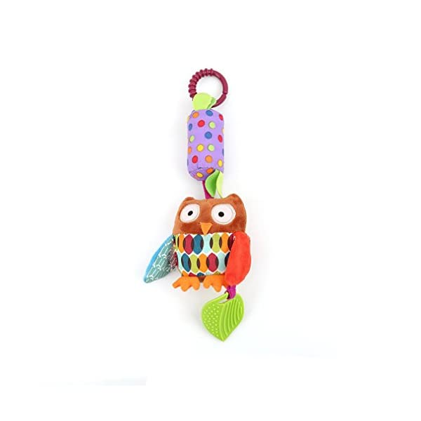 Lalang Stroller Hanging Toy Pram Hanging Bell Crib Rattle Toy Soft Baby Chew Toy 1