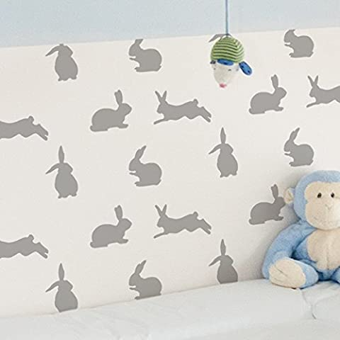 rabbit pattern stencil, animal stencil, nursery home decorating/craft stencil (S/ 6.7 x 9.6 inches)