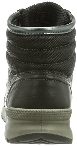 Ecco ECCO CS14 LADIES Damen Hohe Sneakers Schwarz (BLACK/BLACK/BUFFED SILVER 54869)