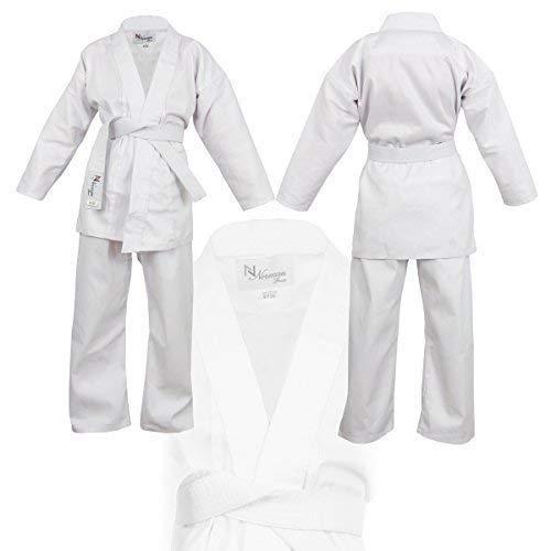 Norman Negro Ni/ños Karate Traje Libre Blanco Cintur/ón Ni/ños Karate Suit