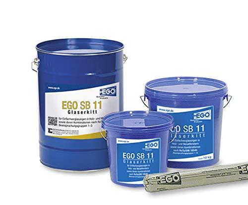 Preisvergleich Produktbild EGO SB 11 Profi-Glaserkitt 5 kg Kunststoff-Eimer,  Fensterkitt,  Holzfensterkitt,  Reparaturkitt