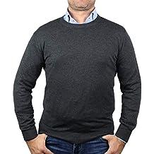 f4c637c45f01d4 1stAmerican langärmliger Pullover Herren mit Rundhalsausschnitt in  verschieden Farben aus Kaschmir und Seide - winterliche Pullover