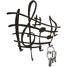 Tablero de llaves - hoja de música - ganchos para llaves
