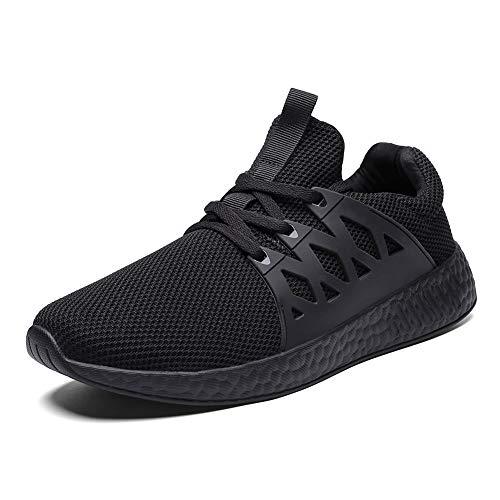 Decai Uomo Donna Scarpe da Ginnastica Sportive Corsa Trail Running Sneakers Fitness Outdoor Casual Interior Basse Trekking Estive Leggero Running all'Aperto Nero 44 EU