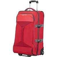 American Tourister Road Quest 2 Comp Borsone con Ruote M, Poliestere, Solid Red, 62.5 litri, 69 cm