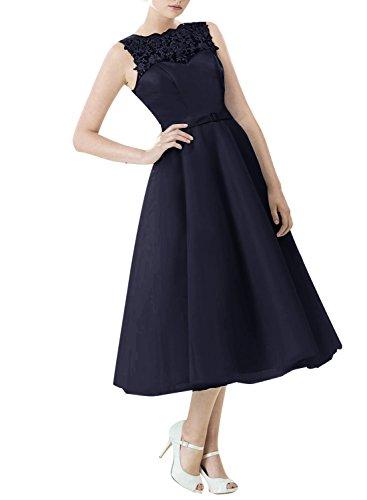 Find Dress Vintage années 50 's Style Audrey Hepburn Rockabilly Swing, Robe de soirée cocktail à Carreau Marine Foncé