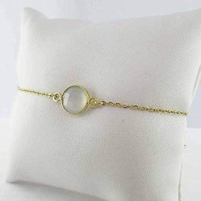 Bracelet pierre de lune plaqué or