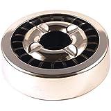 Gluttöter Aschenbecher für draußen Windaschenbecher Metall Ascher Starlet24 Ashtray stabil rund flach Silber