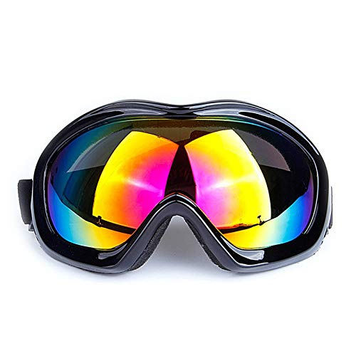 DOLOVE Skibrille Herren Damen Brille Winddicht Radsport Schutzbrille Schwarz