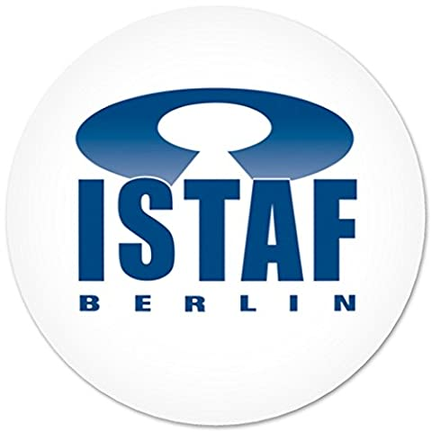 Button with safety pin ISTAF Berlin Insignia Ensign Badge 3,7cm ( V.I.P. Pictures World powered by CRISTALICA )