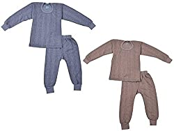 Kuchipoo Kids Thermal Pajama and Vest (4-5 Years) - Set of 2