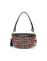 f2b17d1b7 LFNYZX New Luxury Woolen Fanny Pack Brand Design Belt Bag High-End PU  Leather Waist Bag Vintage Thread Women…