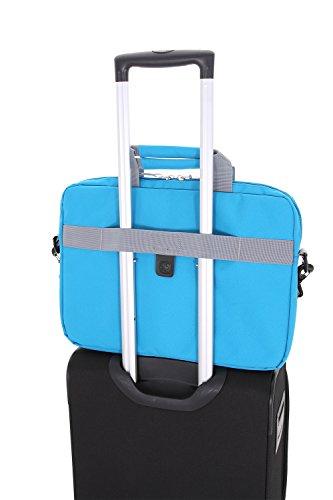 Best swiss gear backpack in India 2020 Swiss Gear Cross Body Laptop Sleeve Carrying Case, Blue Image 2