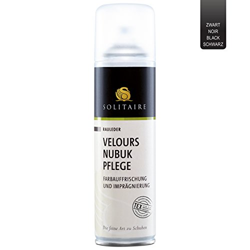 Solitaire Velours Nubuk Pflege Spray schwarz, 250 ml -