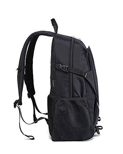 VERTAST Laptop-Rucksack-Geschäft Taschen Schule Tasche für College-Reise-Rucksack für 17-Zoll-Laptop und Notebook Schwarz