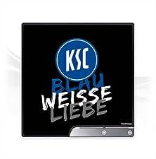 DeinDesign Sony Playstation 3 Slim CECH-2000-3000 Folie Skin Sticker aus Vinyl-Folie Aufkleber Karlsruher SC Ksc Fußball Fussball