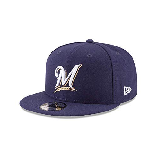 New Era Milwaukee Brewers Basic Logo MLB Snapback Cap Navy, One Size