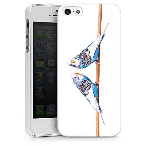 Apple iPhone SE Hülle Case Handyhülle Vogel Sittich Wellensittich Hard Case weiß
