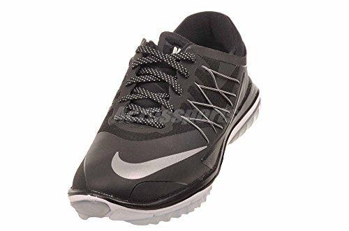 Nike Damen Lunar Control Vapor Golfschuhe, Schwarz (Black/metallic Silver/White), 39 EU