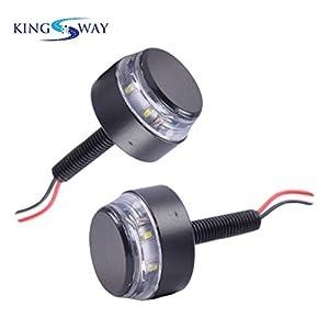 Kingsway kkmhblghtbkdl20001 Handle Bar Indicator Light (Pack of 2, Black)