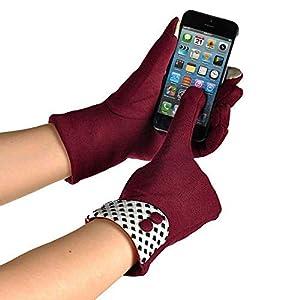 RFGHATG Women's Gloves Screen Warm Winter Soft Wrist Gloves Full Finger Gloves Mittens