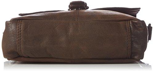 Sansibar B-241 St Damen Umhängetaschen 22x28x7 cm (B x H x T) Braun (Dark Brown)