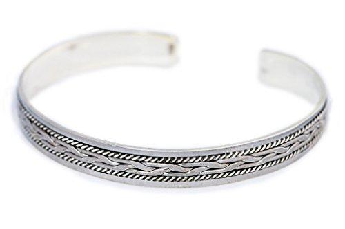 WINDALF Keltischer Armreif CULAIN Ø 6.3 cm Ornamentik 925 Sterlingsilber