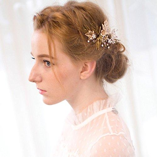 Vintage Gold Zweig Haar Klipp Brautoberteil Hochzeit Accessories -