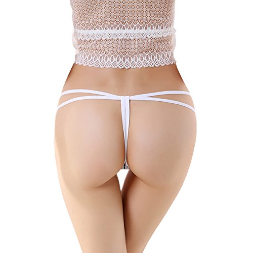 Dissa 2er Pack Z2129 Damen Panties Strings Tanga Weiß