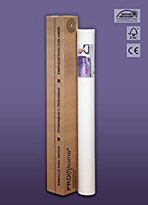 Revêtement non-tissé à peindre 120 g Profhome HomeVlies 399-124 intissé lisse de rénovation blanc | 1 rouleau 25 m2