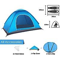 Tenda da campeggio per 2 persone, tenda impermeabile pieghevole con borsa per il trasporto Facile da montare, tende per zaino in spalla per viaggi in coppia, campeggio per famiglie, escursioni, caccia pesca o altri sport all'aria aperta