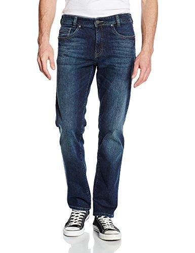 Atelier GARDEUR Herren Straight Jeans Nevio-6, Blau (Dark Stone 68), W40/L32 (Knopf Herren-kleiner Vorne)