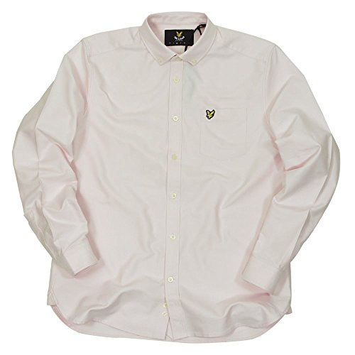 Lyle and Scott Long Sleeve Oxford Shirt in Soft Pink Soft Pink