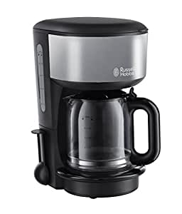 Russell Hobbs Cafetière Colours Grey - Technologie de douchette avancée, 1,25 L, montée en température rapide, 1000 W, stop goutte, porte filtre amovible, 20132-56