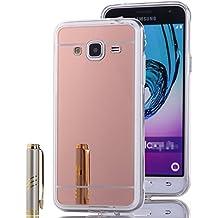 Funda Espejo Silicona Gel Tpu para Samsung Galaxy Core Prime G360 Color Rosado