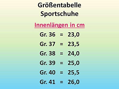 gibra, Scarpe indoor multisport donna Blu (Blu/Verde fluo)
