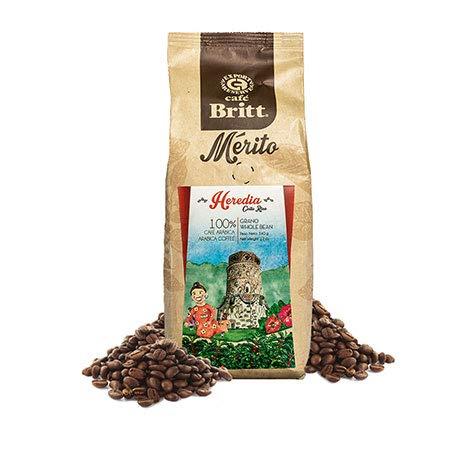 Gourmet Café Britt Mérito, Heredia Costa Rica, Arabica ganze Bohne 340 g Packung