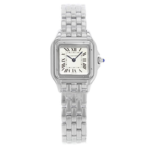 Cartier Panthere WSPN0006quadrato 22mm quadrante argento acciaio quarzo Orologio da donna