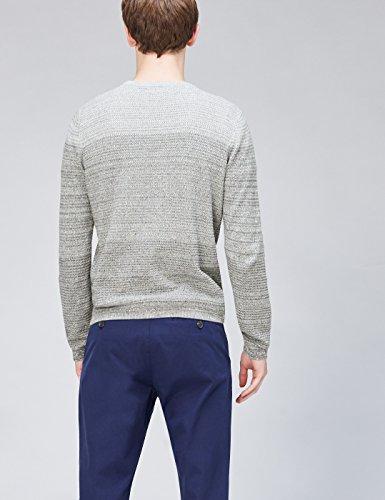 FIND Herren Strickpullover mit Farbverlauf Grau