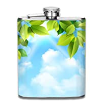 Small Flask High Quality Perfect Sky Leaves Stainless Steel Hip Flask 7 OZ - Sneak Alcohol Anywhere for Man,Woman