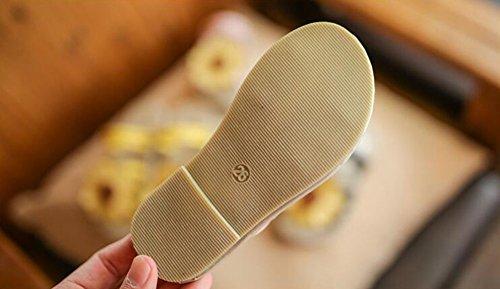 Juleya I pattini del sandalo delle ragazze infantili del bambino dei fiori fanno i sandali del prewalker antisdrucciolevole della principessa molle rosa